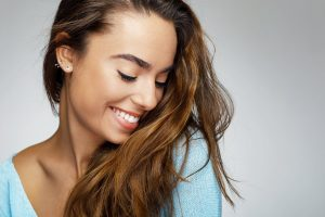 young woman smiling, young lady, beautiful smile