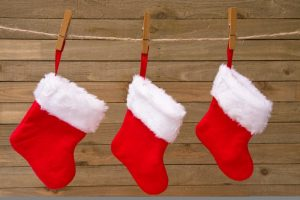 a row of stockings