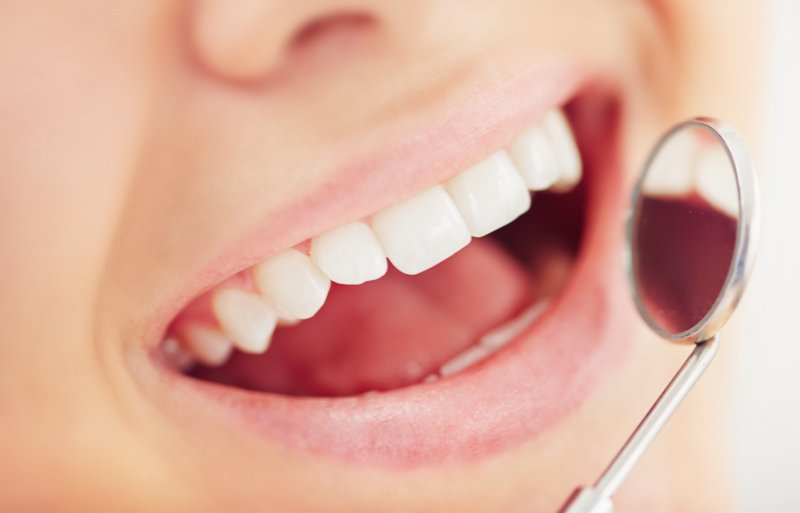 healthy smile seen by dentist in Richardson